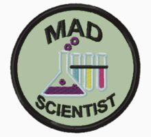 Mad Scientist Geek Merit Badge by storiedthreads