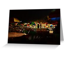 Pintados Festival at Night Greeting Card