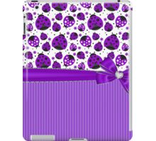 Purple Ladybugs iPad Case/Skin