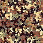 Camouflage print with star shapes by EV-DA