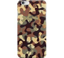 Camouflage print with star shapes iPhone Case/Skin