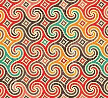 Retro pattern with swirls by EV-DA