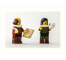 Shakespeare at work Art Print