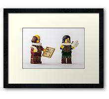 Shakespeare at work Framed Print