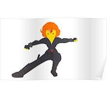Flame Princess as Black Widow Poster