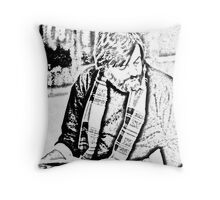 George Romero Portrait--On Location Throw Pillow