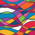 Bright geometric print by EV-DA