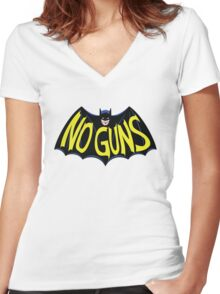 No Guns for this Hero Women's Fitted V-Neck T-Shirt