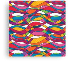 Bright geometric print Canvas Print