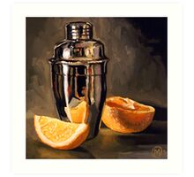 Orange & Martini Art Print