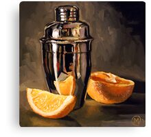 Orange & Martini Canvas Print