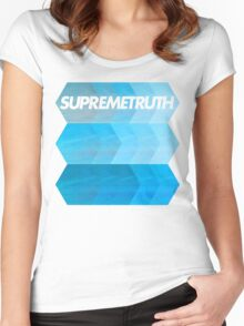 st thehexagons Women's Fitted Scoop T-Shirt