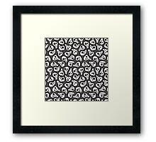 Funny zombie pattern Framed Print