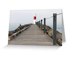 Irondequoit Bay Pier Greeting Card