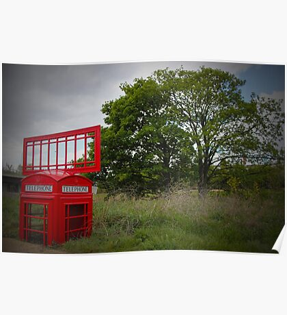 Telephone Box Sculpture  Poster