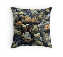 Mixed tulips background Throw Pillow