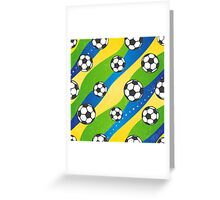 Football pattern Greeting Card
