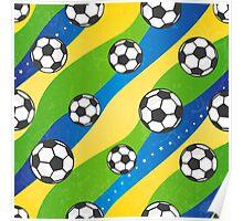 Football pattern Poster