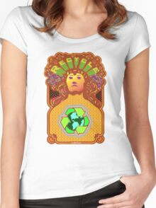 Recycle Mother Earth Planet Women's Fitted Scoop T-Shirt