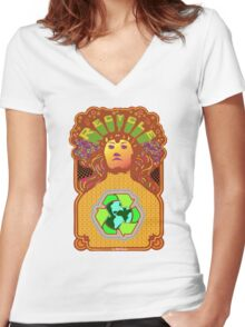 Recycle Mother Earth Planet Women's Fitted V-Neck T-Shirt