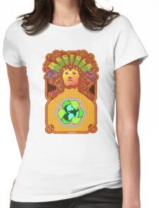 Recycle Mother Earth Planet Womens Fitted T-Shirt