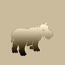 Hippopotamus Baby by fuxart