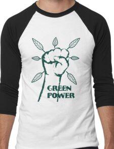 Go Green Power Men's Baseball ¾ T-Shirt