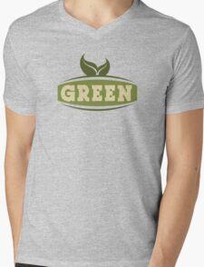 Green Saying Mens V-Neck T-Shirt