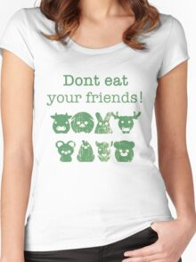 Don't Eat Your Friends Women's Fitted Scoop T-Shirt