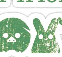 Don't Eat Your Friends Sticker