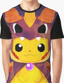 Mega Spyro Pikachu Graphic T-Shirt
