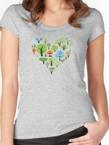 Green Tree Love Women's Fitted Scoop T-Shirt