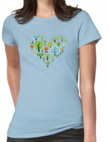 Green Tree Love Womens Fitted T-Shirt