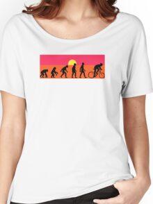 Pop Art Bike Evolution Women's Relaxed Fit T-Shirt