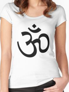 Aum Om Symbol Women's Fitted Scoop T-Shirt