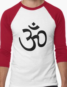 Aum Om Symbol Men's Baseball ¾ T-Shirt