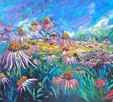 Echinacea Flowers by HelenBlair