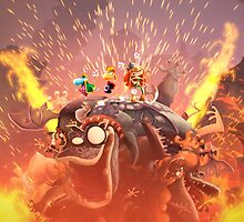 Rayman Legends (ending of Medieval Madness) by bubblelicious