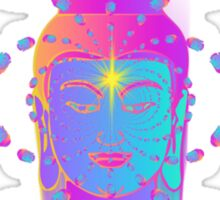 Swirling Buddha Heads Sticker