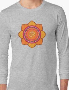 Lotus Om Symbol Long Sleeve T-Shirt