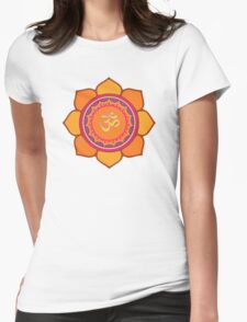 Lotus Om Symbol Womens Fitted T-Shirt