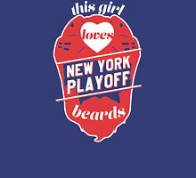 This Girl Loves NEW YORK Playoff Beards! Womens Fitted T-Shirt