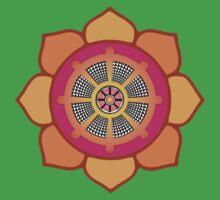 Lotus Buddhist Dharma Wheel Baby Tee