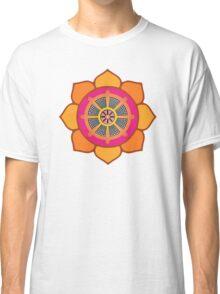 Lotus Buddhist Dharma Wheel Classic T-Shirt