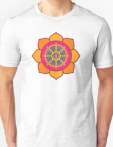 Lotus Buddhist Dharma Wheel T-Shirt