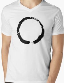 Zen Buddhist Enso Symbol Mens V-Neck T-Shirt
