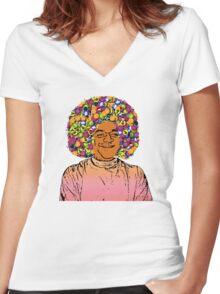 Guru Sathya Sai Baba Women's Fitted V-Neck T-Shirt
