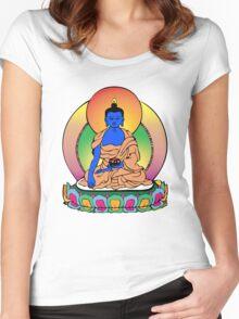 Buddhist Blue Buddha Women's Fitted Scoop T-Shirt