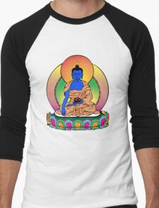 Buddhist Blue Buddha Men's Baseball ¾ T-Shirt