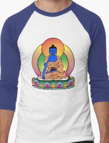 Buddhist Blue Buddha Men's Baseball ¾ T-Shirt